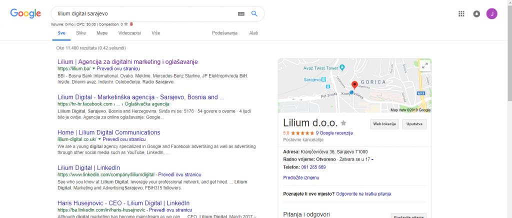 Lilium Google My Business